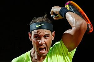 Nadal in action during the Italian Open.
