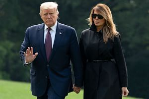 """President Donald Trump said he and his wife Melania will begin the """"quarantine and recovery process immediately""""."""
