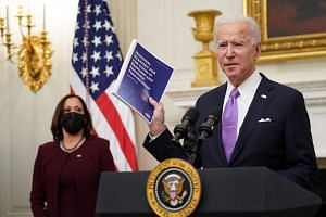 Mr Biden's plan includes mounting an aggressive vaccination campaign.