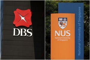 The NUS researcher's brother works at DBS Bank at 2 Changi Business Park Crescent but has largely been working from home.