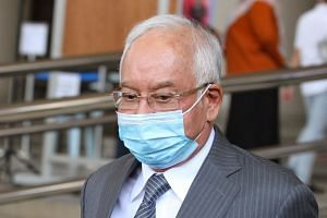 Former Malaysian prime minister Najib Razak admitted he did not register his details at the restaurant.