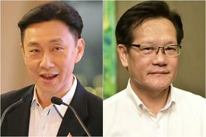 FAS presidential hopefuls Bill Ng from Team Game Changers (left) and Lim Kia Tong from Team LKT.