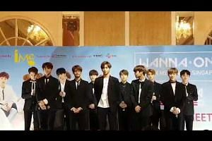 Wanna One's first fan meeting in Singapore