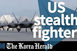 US stealth fighters in South Korea