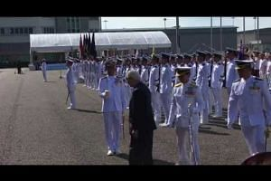 President Tony Tan reviewing the guard of honour