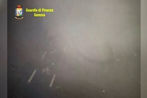 CCTV video shows moment of Genoa bridge collapse