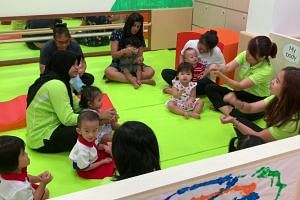 Music and movement activity at the infant bay