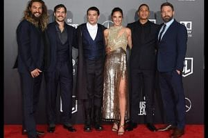 Superheroes descend on Hollywood for Justice League premiere