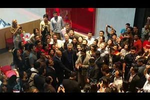 PM Lee takes a 360 degree selfie with Google staff
