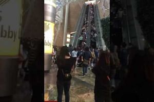 18 injured as Langham Place escalator malfunctions by reversing its direction.