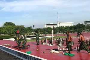 US defense chief Mattis watches Indonesian troops drink snake blood, roll in glass