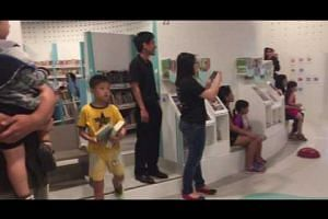 Kids at the redesigned children's zone of the Bukit Panjang Public Library