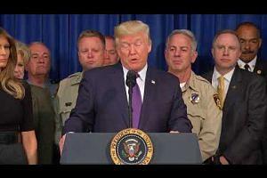 Donald Trump praises bravery of survivors of Las Vegas mass shooting