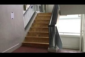 Time lapse video of the staircase in an hour