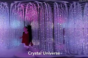 A 360° look inside Future World's Crystal Universe at the ArtScience Museum