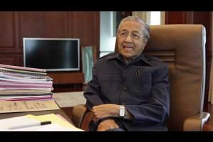 Malaysia's former prime minister Mahathir Mohamad on the HSR
