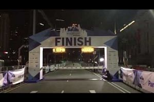 ST Run: Winner of 18.45km run crosses finish line
