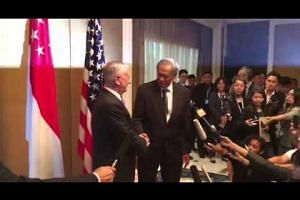 Shangri-La Dialogue: Ng Eng Hen welcoming James Mattis to Singapore