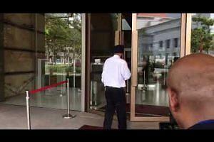 Lawyer Davinder Singh arrives at the Supreme Court