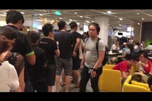 Dinner queue at Alexandra Road Ikea