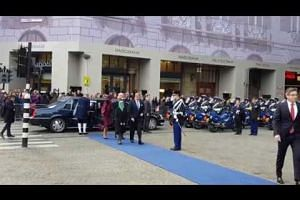 Ceremonial welcome for President Halimah in the Netherlands