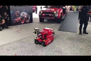 Demonstration of the newly launched Red Rhino Robot