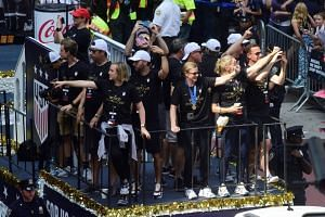 Women's World Cup champs celebrate in New York City