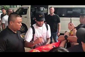 Brazil Global Tour 2019: Neymar Jr. arrives in Singapore