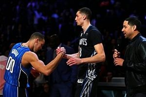 Zach LaVine and Aaron Gordon's AWESOME Slam Dunk Duel