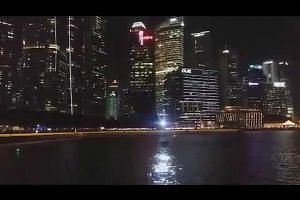Sails Aloft, one of the art installations at i Light Singapore - Bicentennial Edition