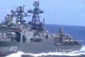 US, Russian warships in near-collision
