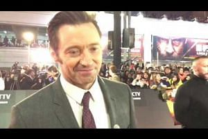 Hugh Jackman meets fans and media on the red carpet