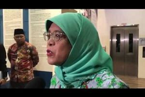 Madam Halimah Yacob speaks at an iftar on May 23, 2018.