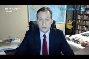 Meanwhile, on the BBC, the world's best photobomb EVER!
