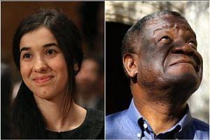 Congolese Mukwege, Iraq's Murad win Nobel Peace Prize