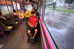 Paralympian Claire Toh taking bus service 242