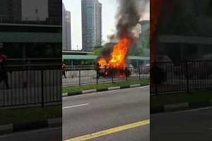 Taxi explodes on Commonwealth Avenue
