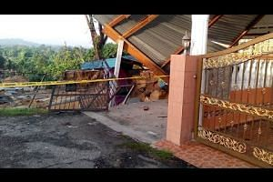 Landslide swallows food stall and affects 64 homes in Serendah