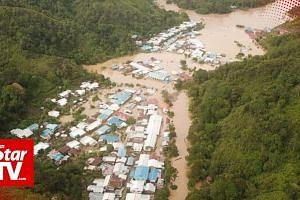 Widespread floods in interior Sarawak