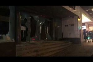 Xinhua News Agency office in Wan Chai vandalised
