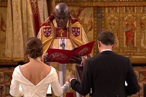 Britain's Princess Eugenie marries in grand royal wedding