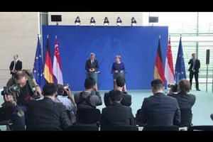 PM Lee Hsien Loong meets German Chancellor Angela Merkel on July 6, 2017