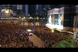 Hong Kong protestors part for ambulance