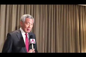 PM Lee answering questions at Apec Economic Leaders Week