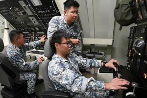 Rare look into training of RSN submarine crew