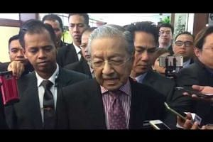 Malaysian premier Mahathir Mohamad on the KL-Singapore high-speed rail