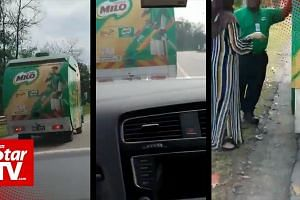 Milo truck chase for craving daughter-in-law
