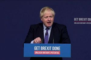 British PM Boris Johnson launches election manifesto