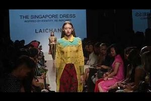 Local designer Goh Lai Chan's collection at the Singapore Fashion Week 2017