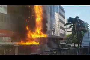 Fire engulfs a furniture store opposite IMM
